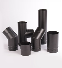 Black Vitreous Stove Pipe