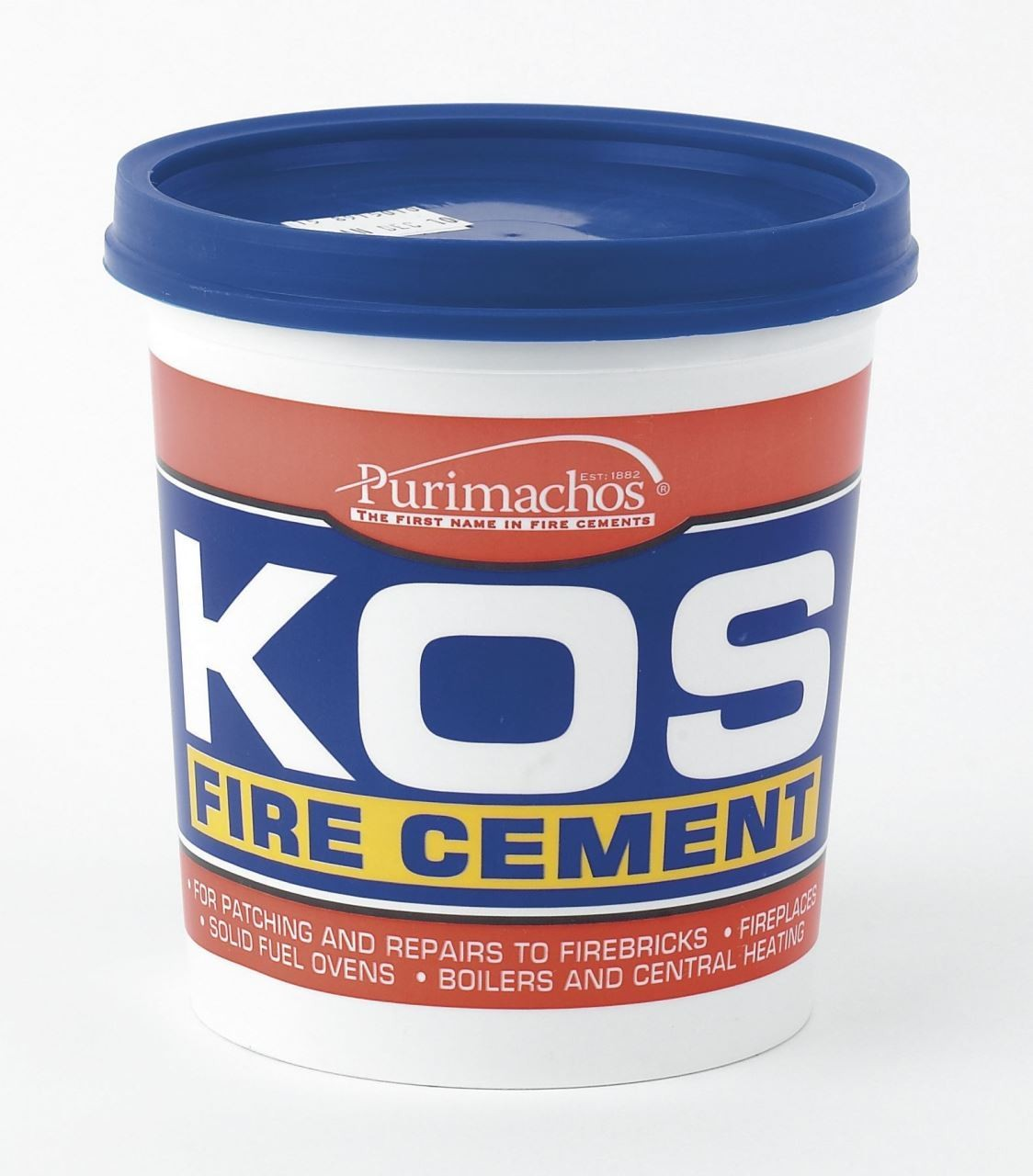 Large tub of fire cement