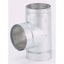 Gas Flue 90 deg Tee
